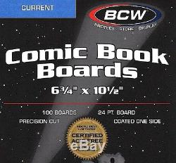 1000 Current Comic Bags and Boards New BCW Storage Supplies