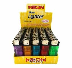 1000 Neon Brand Disposable Lighters Butane Cigarette Cigar Bulk Wholesale Lot
