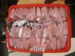 1000g(2.2lb)NATURAL ROSE QUARTZ CRYSTAL POINT HEALING Wholesale