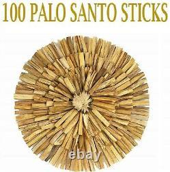 100 PALO SANTO STICKS 100 Pack HOLY WOOD INCENSE STICKS WHOLESALE BULK LOT