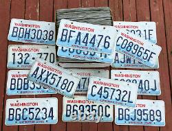 100 Washington State Craft Condition License Plates Bulk Lot/Wholesale Lot