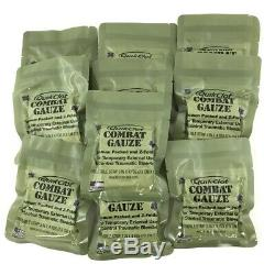 10 Pack Quik Clot Combat Gauze, Hemostatic Dressing 2021 Exp IFAK EMS EMT