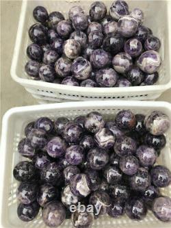 11lb NATURAL Banded Chevron Dreamy amethyst QUARTZ CRYSTAL Sphere Ball Wholesale