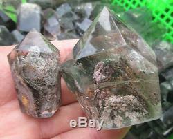 11lb Wholesale Natural chlorite ghost phantom quartz rock point healing 5000g