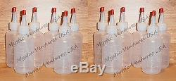 12X 4oz Snuffer Bottles GOLD Prospecting Clean-up Pan Sluice FAST FREE SHIP