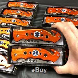 12x Tac Force Spring Assisted EMT EMS Emergency Rescue Ambulance Pocket Knife
