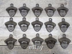 15 Rustic Cast Iron OPEN HERE Wall Mounted Beer Bottle Openers Bar Wholesale