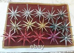 15 Vintage Sputnik Atomic Star Hard Plastic Ornaments