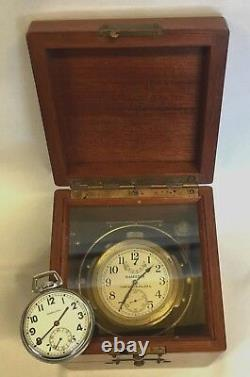 1942 Vintage Hamilton Model22 Chronometer&1942 Hamilton U. S. Navy Pocket Watch