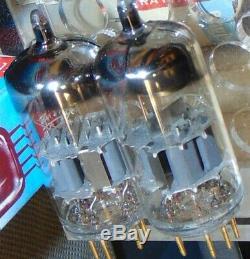 1971 Pair Telefunken Ecc88 Cca 6922 Gold Pins Nos Nib Tubes Siemens Germany #