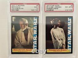 1977 Star Wars Wonder Bread COMPLETE GRADED PSA SET 1-16 Skywalker Vader Jawas