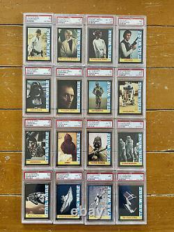 1977 Star Wars Wonder Bread Complete card set PSA 7-9 Luke Skywalker Darth Vader