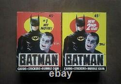 1989 Topps Batman Movie Series 1 & 2 Trading Card Boxes 36 Wax Packs Per Box