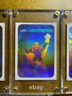 1990 Marvel Universe Hologram COMPLETE SET Wolverine, spider-man, magneto, etc