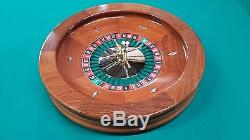 19 Inch Solid Mahogany Roulette Wheel (Made in the USA)