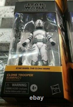 (#1-6)The Clone Wars Bundle Hasbro - Star Wars The Black Series