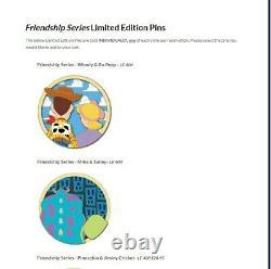 2021 Disney Studios Store DSSH LE400 Friendship Series 8 PINS FULL SET IN HAND