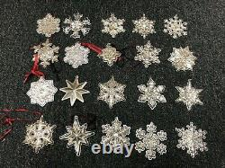 20 Vintage Towle Wallace Gorham Lunt Sterling Silver Snowflake Star Ornaments