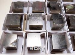 25x WHOLESALE Natural twice pyrite cube crystal mineral #C2.25 C SPAIN