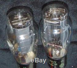 274B NOS Pair Vintage CHS Navy Sylvania Best Western Electric 274-B Sub 2 Tube's