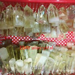 2.2LB Natural Quartz Citrine Crystal Obelisk Point Wand Energy Healing Wholesale