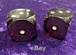 2 Heavy Vintage Large 1.5 Cherry Red Bakelite Dice AUSTRIA 63 Grams EACH +GWP