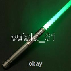 2 Lightsaber RGB Force FX Heavy Duel Color Change Metal Handle Light Saber Gun