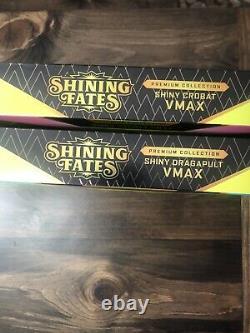 2x Lot Set Pokémon Shining Fates Premium Collection Dragapult Crobat VMAX Box