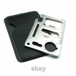 300 Bulk Lot 11 in 1 Multi Tool wallet thin pocket survival credit card knife
