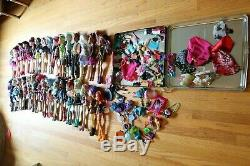 33 Monster High Collectible Dolls & Clothing And Accessories Lot Huge Lot