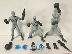 3X SET LOT Hasbro Power Rangers Lightning Collection Putty Patrol Army MMPR