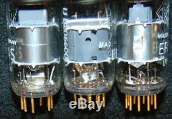 3 NOS TUBE'S VERY RARE Telefunken Gold pin EF804S Pair = EF86 EF804 Z729 EF8010