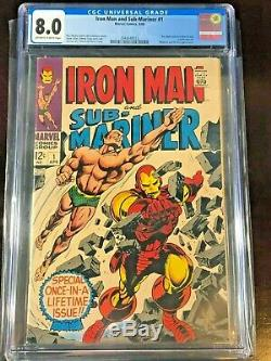 3 Silver Age Comic 1st Lot IRON MAN & SUBMARINER 1 cgc 8.0 VF 5.0 1968 Avengers