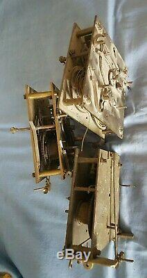 3 Vienna Regulator Movements For Parts Or Projects, (2 Old Gustav Becker!)