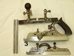 (4) Antique STANLEY 45 Combination planes