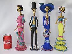 4 CATRINA SET mexican folk art day of the dead catrinas wholesale lot 16