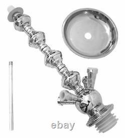 4- Hose Shisha Black Laser pipe Clearence Hookah set wholesale +Windcover bl