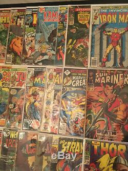 50-BOOK SILVER & BRONZE Comic MEGA LOT w NICK FURY #15 SUB-MARINER #6 THOR #158+