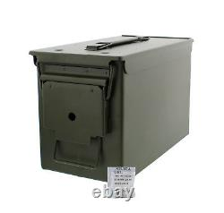 50 Cal Metal Ammo Can 6-Pack Military Steel Box Shotgun Rifle Gun Ammo Storage