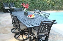 6 Outdoor Swivel Chairs Aluminum Patio Furnitures Heaven Collection Dining Set A