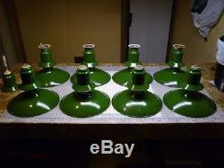 8 Vintage Industrial Green Porcelain Enamel Barn Gas Station