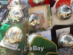 All 46 Annual 1971 2017 Wallace Silverplate Christmas Sleigh Bells, Complete