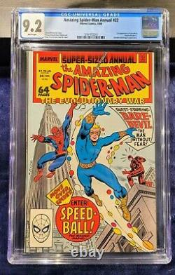 Amazing Spider-Man Annuals lot of 3, #20, 21, 22, All graded by CGC