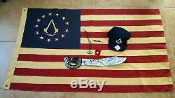 Assassins Creed Collection Lot 7 Games PS3 PS4 Rare Heavy Cotton Flag
