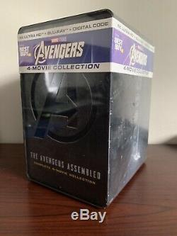 Avengers 4-Movie Steelbook Collection Lot (4K UHD/Blu-ray/Digital) FactorySealed