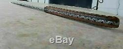 Awesome Custom Handmade 25.0 Damascus Steel Hunting Short Sword with Sheath