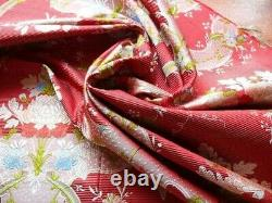 BY YD 100%Silk Lampas Basilica Crimson Red French Court Lace