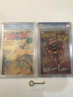 Batman #139 & Detective Comics #359 CGC 7.0! Origin & First Batgirl DC Mega Key