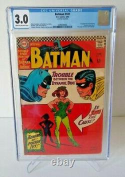 Batman #181 CGC 3.0 1st Poison Ivy 1966 Silver Pin-Up NEW Case & 181 FREE Ship