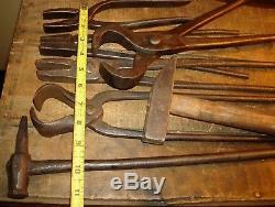 Blacksmith Tool Lot Hammers, Tongs Anvil Forging Tools, Bladesmith Crafting